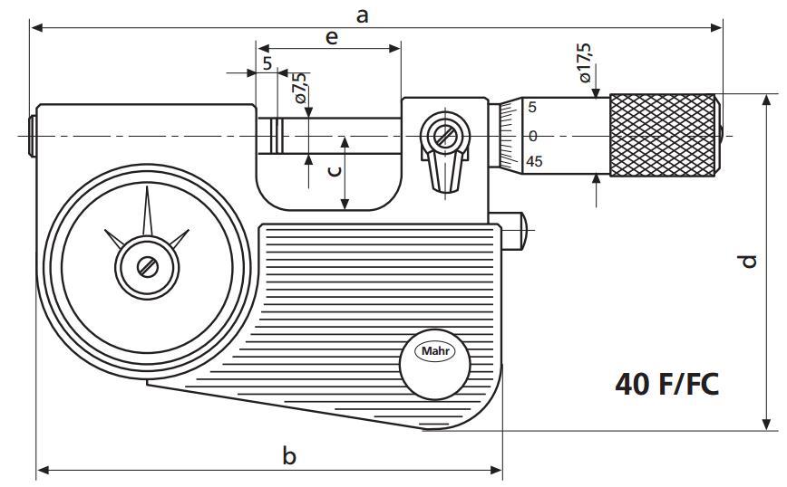 德国Mahr测微计与集成度盘式比较仪Micromar 40 F/FC
